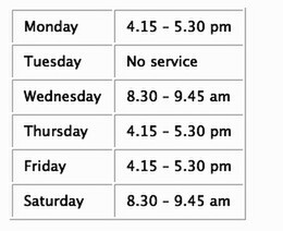 Mobile Post Office Times